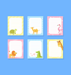blank note paper template with cute african vector image