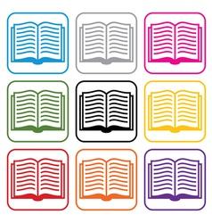 Book symbols vector