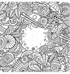 Cartoon contour hand-drawn doodles japan food vector