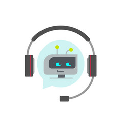 chatbot support assistant icon flat vector image