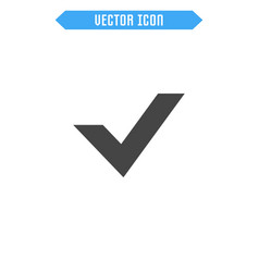 check flat icon vector image