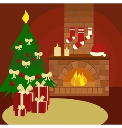 Christmas still life cartoon vector