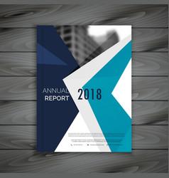 Clean annual report brochure template design vector