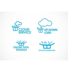 Cloud Logo Services vector