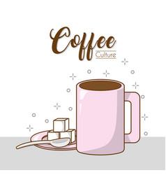 Coffee culture concept vector