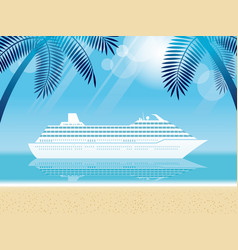 cruise liner and tropical resort vector image