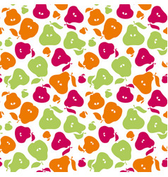 cute simple flat peir fruit seamless pattern for vector image