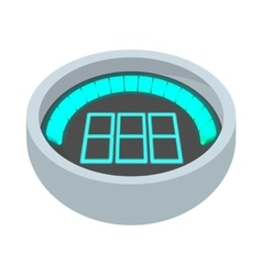 Dashboard indicator icon cartoon style vector