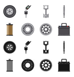 design of auto and part icon set of auto vector image