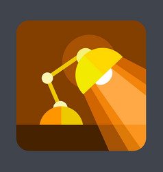 desktop lamp concept background cartoon style vector image