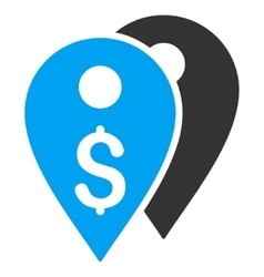 Dollar Bank Marks Flat Icon vector image