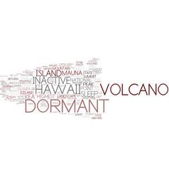 Dormant word cloud concept vector