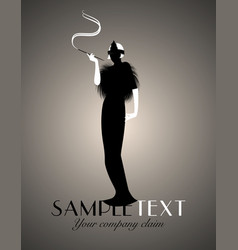 elegant silhouette lady-02 vector image