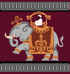 Elephant india vector