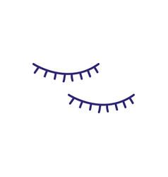 False eyelashes make up icon vector