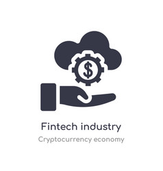 Fintech industry icon isolated fintech industry vector
