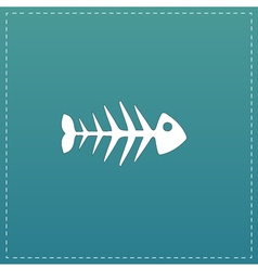 Fish skeleton flat icon vector image