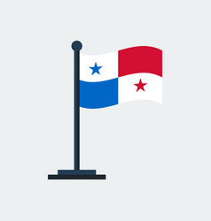 flag of panamaflag stand vector image