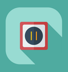 Flat modern design with shadow icons socket vector