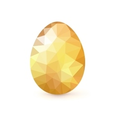 golden egg from mosaics pattern triangles vector image
