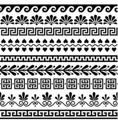 Greek seamless pattern set - ancient design vector
