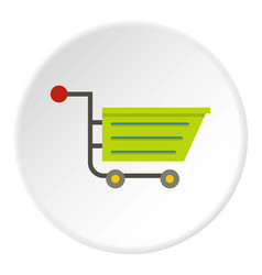 green sale shopping cart icon circle vector image