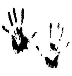 Handprint hands black vector