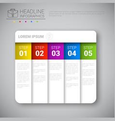Headline infographic design business data graphic vector