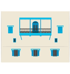 Indian building vector image