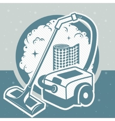 industry vacuum cleaner vector image