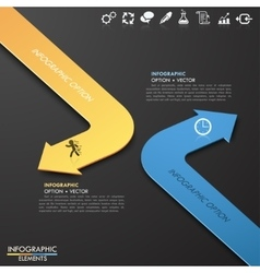 Infographic template with 2 arrows vector