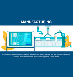 Innovative manufacturing flat banner template vector