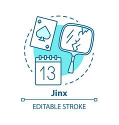 Jinx concept icon mystic and superstition idea vector