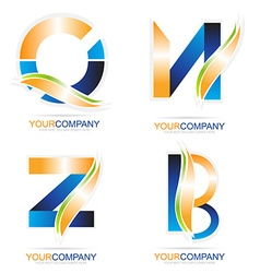 Letters logo elements vector image