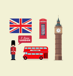 london tourist landmark national symbols vector image
