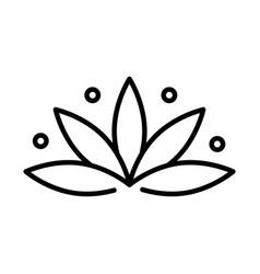 Lotus flower floral decoration ornament line style vector
