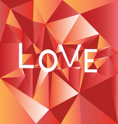 Low poly Love red vector