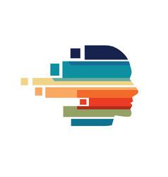 man head colorful logo vector image