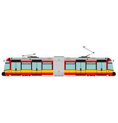 Modern tram vector