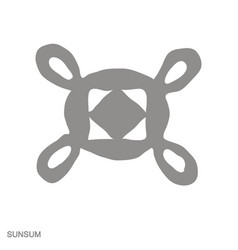 Monochrome icon with adinkra symbol sunsum vector