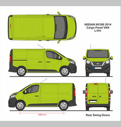 Nissan nv300 cargo panel van l1h1 2014 vector