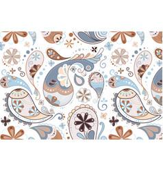 Paisley pattern background blue cute decorative vector