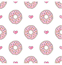 party cake valentines day seamless pattern vector image