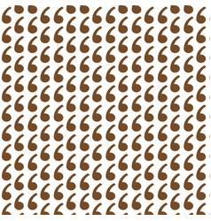 Pattern background comma icon vector