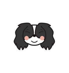 pekingese emoji relaxed multicolored icon signs vector image