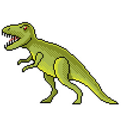 pixel tyrannosaurus dinosaur detailed isolated vector image