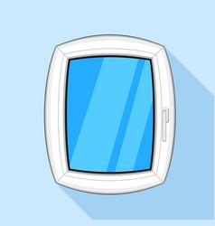 Plastic window icon flat style vector