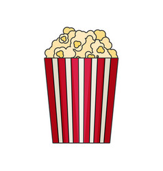 Popcorn flat vector