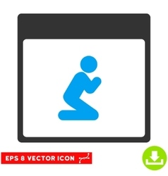Pray Person Calendar Page Eps Icon vector