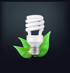 realistic energy saving lamp concept vector image